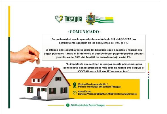 IMPUESTO PREDIAL 2020 GADC TOSAGUA